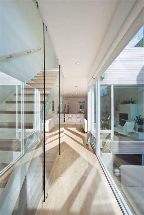 glass wall stairs hintonburg home  ottawa canada