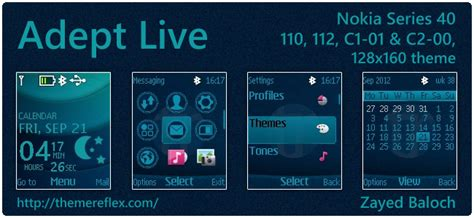 themes download for nokia 112 adept live theme for nokia c1 01 c2 00 110 112 128