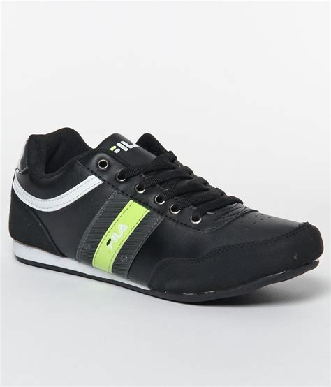 fila green sneakers fila notable black green sports shoes price in india