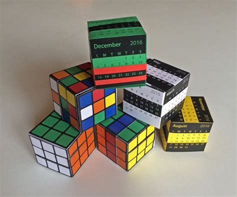 How To Make A Paper Rubik S Cube - the amazing paper puzzle box rubik s cube or calendar