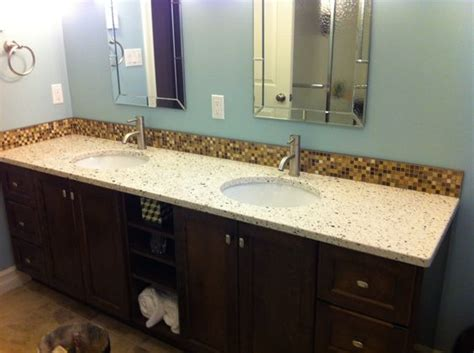 backsplash it would go with the stone around the island small backsplash around a vanity to match the accent tile