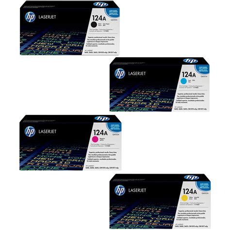 Toner Q6001a budget compatible hp 124a cmyk multipack toner cartridges