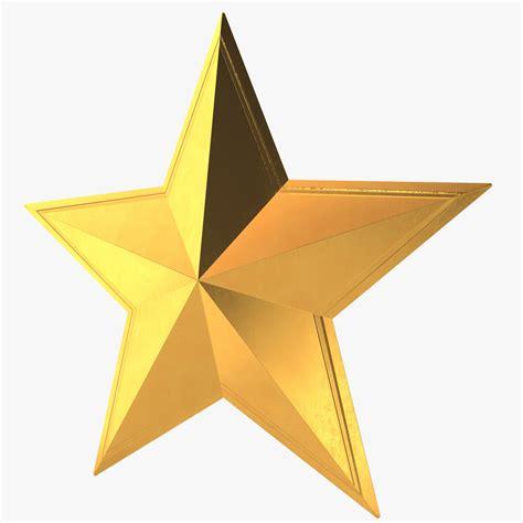 stars model 3d model golden star