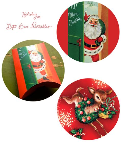 printable reindeer gift box momathon blog two christmas gift box printables santa