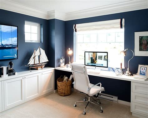 Home Office Ideas Blue How To Decorate An Office Ideas And Tips Minimalist