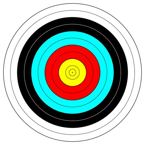 l target fita official face archery target by anamix a fita