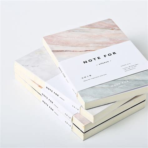 design journal journals japanese cute stationery note for silence 80 pages marble