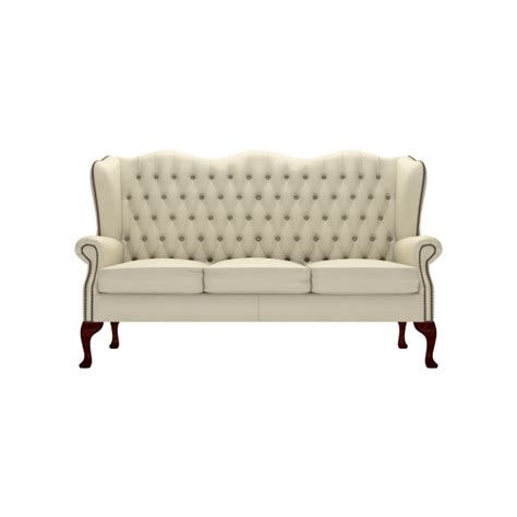 Sofa Wing Klasik classic 3 seater sofa from timeless chesterfields uk