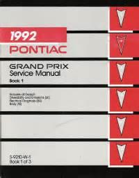 1992 pontiac grand prix repair shop manual 3 volume set 92 original service oem ebay 1992 pontiac grand prix service manual volume 1 2 3