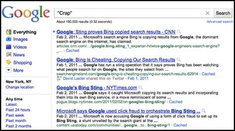 google design fast company bing director calls google copying accusations crap