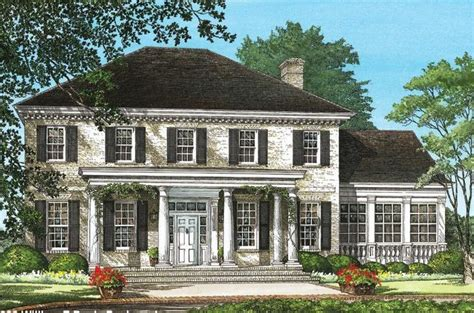 southern colonial house plans southern colonial houseplan 7922 00037 colonial house