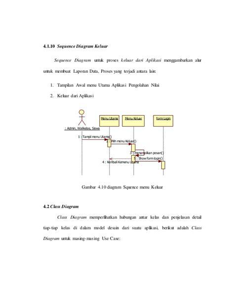 aplikasi untuk membuat sequence diagram aplikasi data nilai siswa perancangan system dengan oose