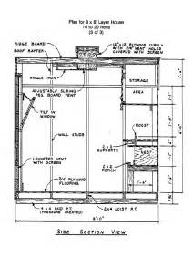 Chicken Coop Floor Plans 8x8 Chicken Coop Plans Coop Building Plans Pinterest