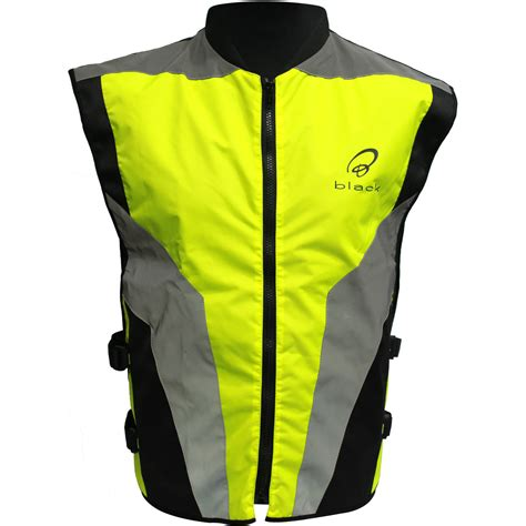 reflective bike jacket s black hi vis reflective motorcycle vest motorbike