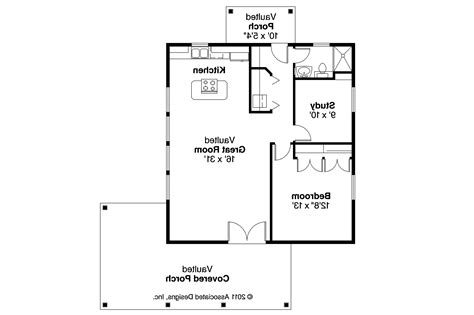 Shotgun House Floor Plans by Bungalow House Plans Kent 30 498 Associated Designs