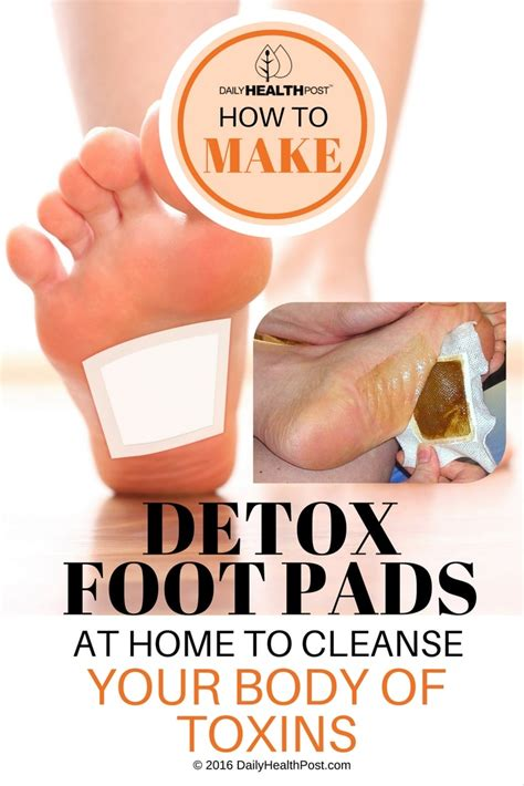 home body how to make detox foot pads at home to cleanse your body