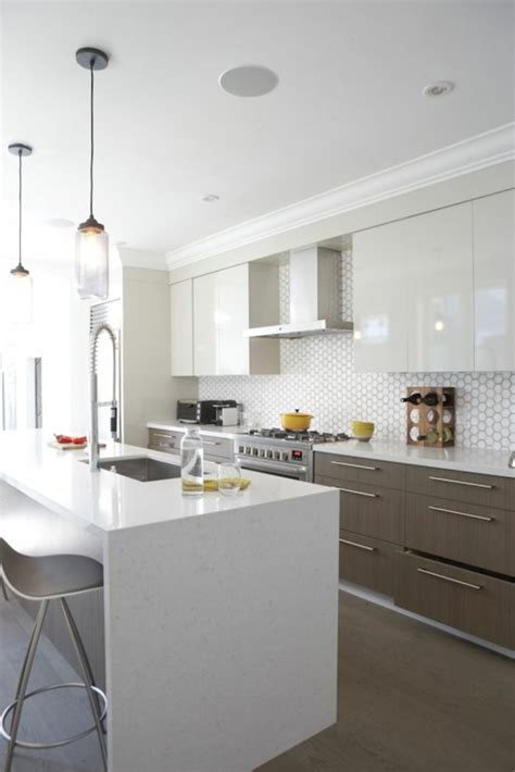 glasfliesen küche wohnzimmer decken design