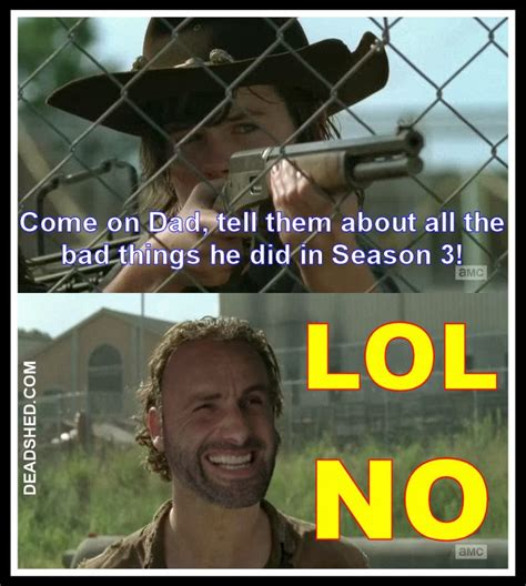 Walking Dead Season 4 Memes - deadshed productions war feels edition the walking