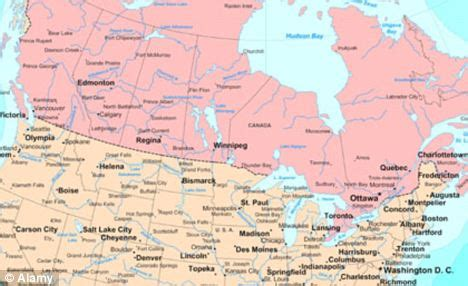map of united states and canada border us border with canada map my