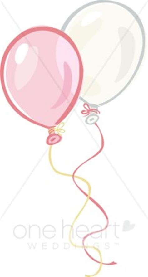 Two balloons clipart wedding balloons clipart