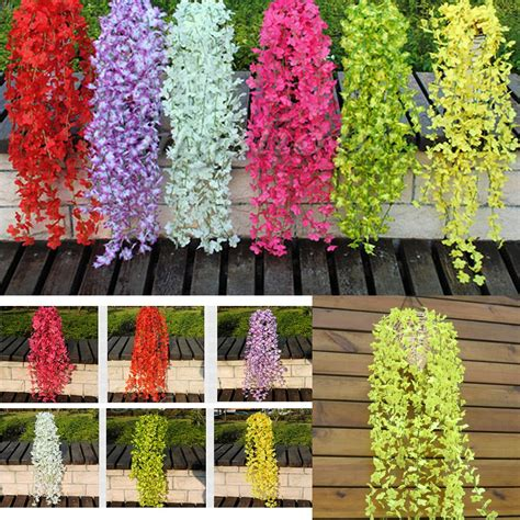 ivy home decor artificial fake silk flower ivy vine hanging garland