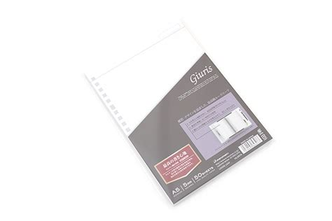 Leaf A5 Office Mate 50 Sheets Murah maruman giuris leaf paper a5 5 mm x 5 mm graph 20 holes 50 sheets jetpens