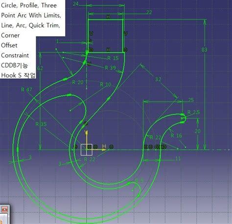 pattern sketch in catia catia sketch한 도면 입문 너는 진정 전자인을 아는가