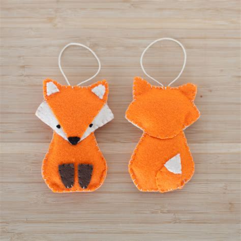 Handmade Fox - felt fox ornament handmade fox ornament decorative fox