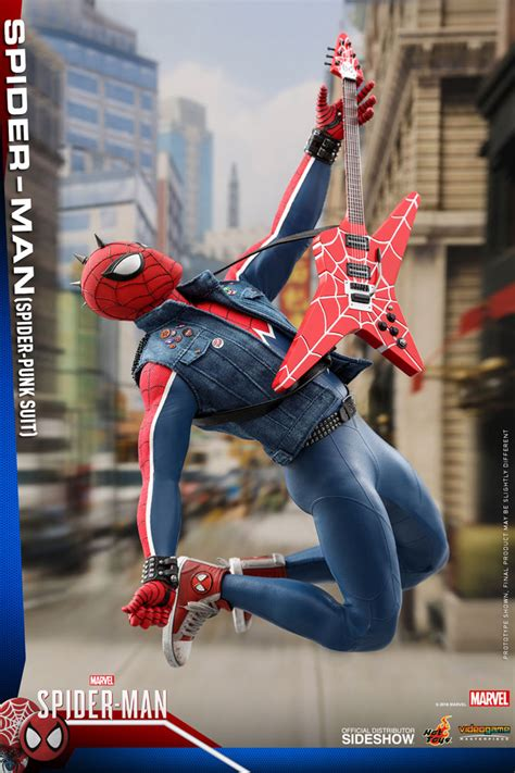 hot toys spider punk spider man sixth scale figure   order marvel toy news