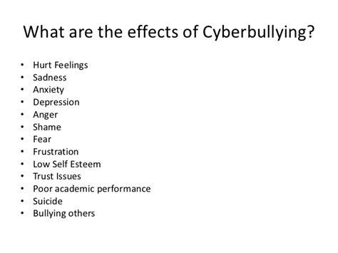 Bullying Causes by Effect Of Cyber Bullying Essay