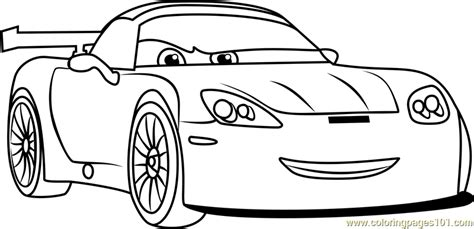 cars 2 coloring pages jeff gorvette jeff gorvette from cars 3 coloring page free cars 3