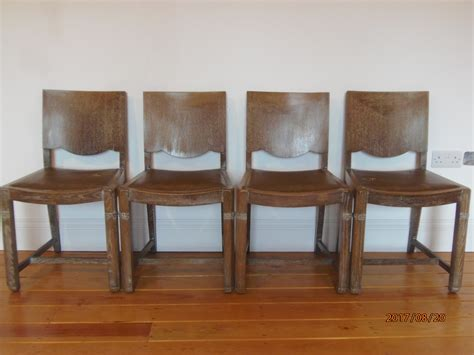 Limed Oak Dining Room Furniture Heals Style Limed Oak Set Of Four Dining Chairs Loveantiques