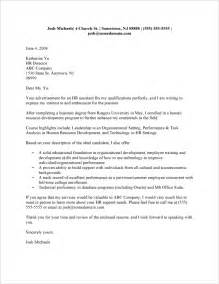 cover letter for graduates recent college graduate cover letter sle monstercollege