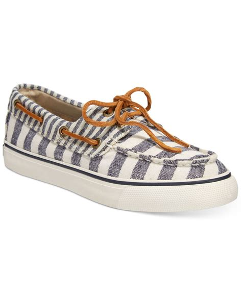 sperry bahama boat shoe sperry top sider women s bahama boat shoes in white lyst