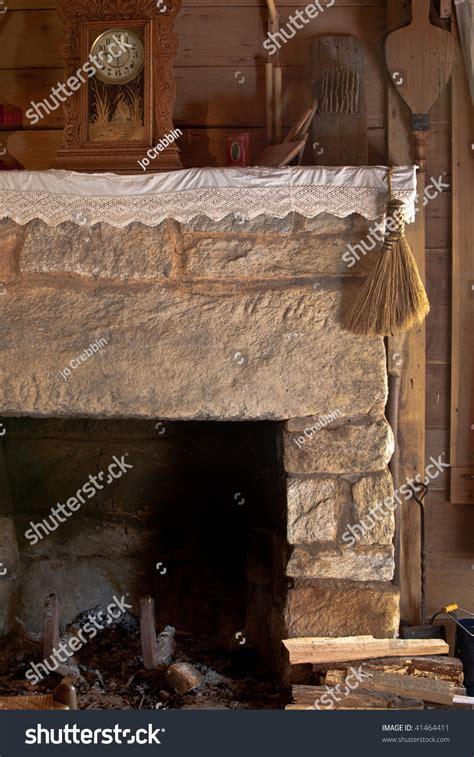 Fashioned Fireplace by Fashioned Fireplace Antique Tools Stock Photo 41464411