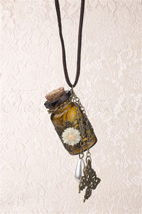 In The Bottle Necklace message in a bottle necklace