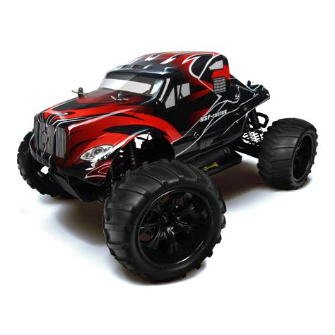 hsp nitro monster truck hsp 94111 88033 black rc monster truck at hobby warehouse