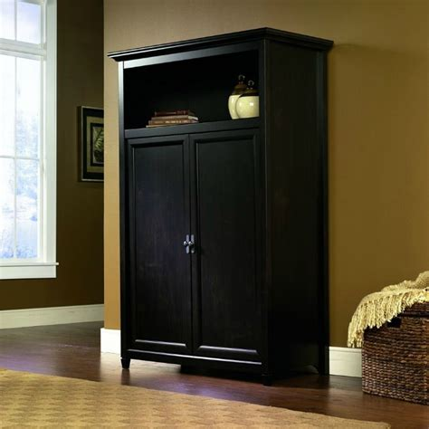 sauder armoire computer desk space saving computer armoire with concealed work desk