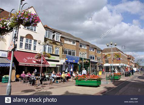 high street british companies united kingdom uk pedestrianised high street horley surrey england