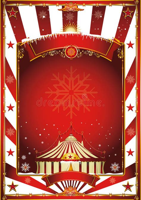 christmas circus vintage poster stock vector illustration  anniversary advertising