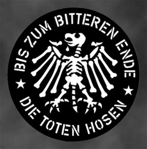 Aufkleber Auto Bis Zum Bitteren Ende by Die Toten Hosen Shop
