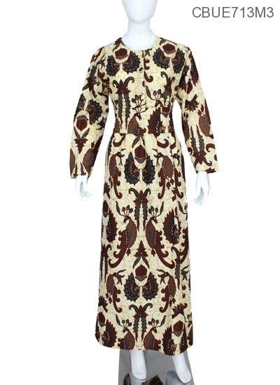 Gamis Batik Sogan gamis sogan motif klasik gamis batik murah batikunik