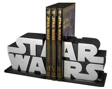 Bookend by Star Wars Logo Bookends Quest For The Coolest Gadgets