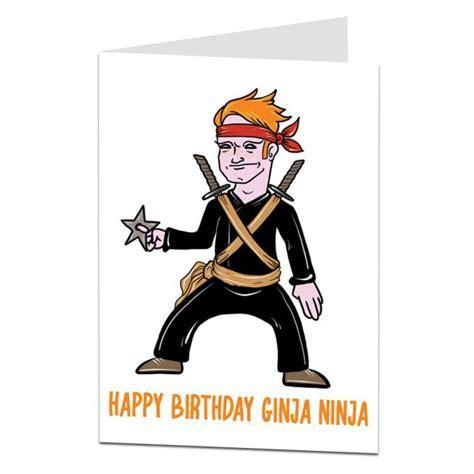 Happy Day Of Birth Ginja Ninja Greetings Card   Lima Lima