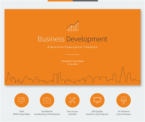 Business Development Powerpoint Template On Behance Business Development Ppt Templates