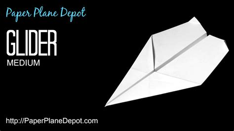 How To Make A Cool Airplane Out Of Paper - glider paper plane depot