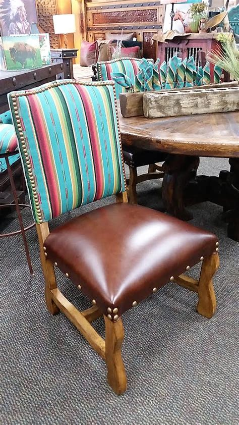 southwestern dining chairs hancrafted serape dining room