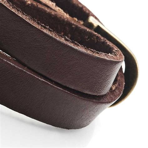Brown Leather Wrap Around Stunning Brown Leather Wrap Around Bracelet For Him
