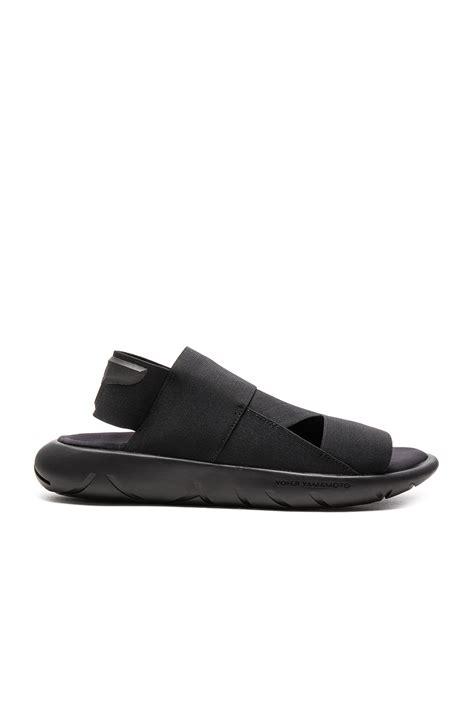 y 3 sandals y 3 qasa sandal in black for lyst
