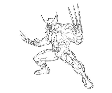 wolverine coloring pages3